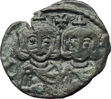 Constantine V Copronymus & Leo IV & Leo III 741AD Ancient Byzantine Coin i30262