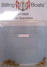 Billing BOATS Accessorio bf-0690 8mm CORRIMANO Stanchions X 10 OTTONE Pack NUOVO