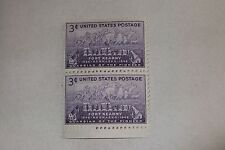 $0.03 Cents Guardian of the Pioneer 1848-1948 Stamps Block of 2