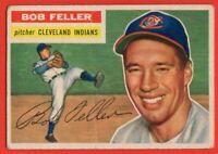 1956 Topps #200 Bob Feller LOW GRADE GOOD+ Cleveland Indians FREE SHIPPING