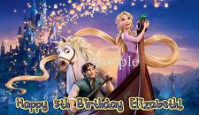 1/2 Sheet TANGLED Edible Birthday CAKE Decoration ICING Topper Rapunzel