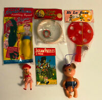 Dimestore Plastic Girl's Toys Lot of 6 Vintage 1960's Japan and Hong Kong