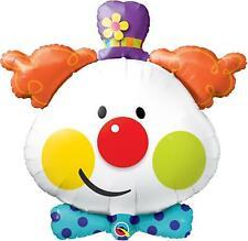 Cute Clown Head 91cm Foil Balloon