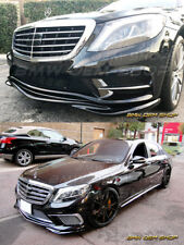 13+ MERCEDES BENZ W222 S63 AMG GLOSSY BLACK PAINTED GH TYPE FRONT LIP SPOILER