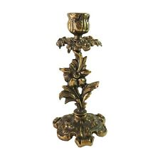 Vintage Brass Candlestick Holder Candle Stick, Ornate Floral Design