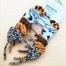 Fashion Women Girl Plush Leopard Cat Ear Headband Hair Band Cosplay Party Prop