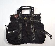 Ezekiel CAMILA TOTE Black Gold Logo Weave Pattern Shoulder Bag Hobo Tote Purse