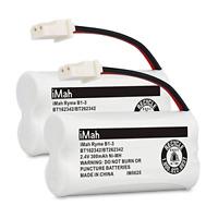 iMah BT162342/BT262342 2.4V 300mAh Ni-MH Cordless Phone Batteries Compatible of