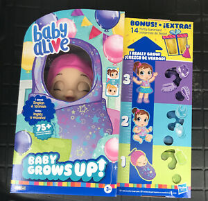 Baby Alive Baby Grows Up Dreamy Shining Skylar or Star Dreamer Growing Doll