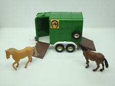 BRITAINS - FARM - BEAUFORT DOUBLE - HORSE BOX TRAILER - N°9562 - 1/32 - ANCIEN -