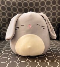 """NWT Squishmallow Pets 8"""" Gray Bunny w/Squeaker Spring Easter 2020 kellytoy NEW"""