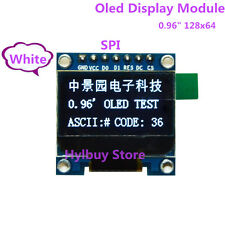 """White 0.96"""" SPI Serial Port 128 64 Small OLED LCD LCM Display Module for Arduino"""