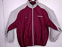Nike Mens NCAA Team Apparel Zippered Jacket Texas A&M Aggies Maroon Coat Wind