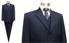 Herren Anzug Elegant 3-teilig Jacke Hose Weste Gr.46-56 Weiß MSR Sams Gentleman