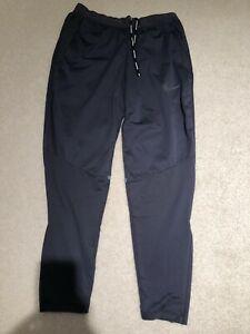 Nike Shield Men's Running Pants, Size Small, Dark Gray