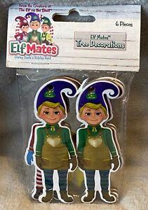 Elf Mates - Christmas Tree Decorations - 6 Pack - Brand New