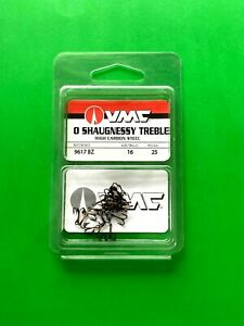 VMC O SHAUGNESSY TREBLE HOOK SIZE 16 BRONZE 25-COUNT PACKAGE #9617BZ