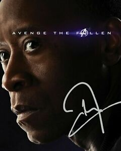 DON CHEADLE - AVENGERS SIGNED AUTOGRAPHED A4 PP PHOTO POSTER