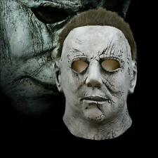 Deluxe Michael Myers Horror Mask Halloween II Latex Full Head Adult Size Fancy