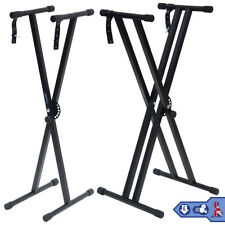 More details for x-frame keyboard stands double beam single beam music electronic keyboard stand