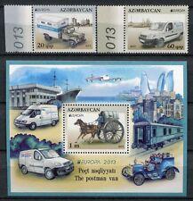 Aserbaidschan Azerbaijan 2013 CEPT Post Fahrzeuge Kutsche 973-974 Block 123  MNH
