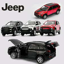 1:32 Jeep Cherokee Diecast Model Metal Alloy Pull Back SUV Car Kid LED Light Toy