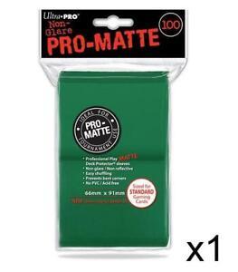 ULTRA PRO - Non-Glare - Pro Matte Standard Deck Protector - Green 100 ct