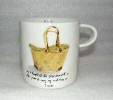 Merci / Bag - Rae Dunn Magenta Boutique French Sketch Collection Short Mug Cup