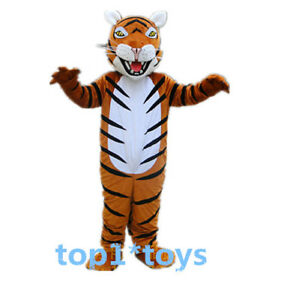Tiger Mascot Costume Suit Animal Cosplay Party Fancy Dress Adults Outfit Parade
