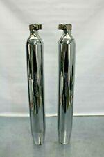 NICE Harley Davidson Chrome Slip On Exhaust Pipes/Mufflers 65538-09 USED