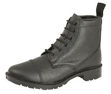 Grafters 6 Eye Black Cadet Army Combat Work Parade Grain Leather Boots Size 4-12
