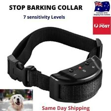 Anti Bark Dog Training Collar 7 sensitivity levels lack color sound adjustable