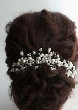 Bridal Crystal Pearls Hair Vine Wedding Proms Comb Headpiece