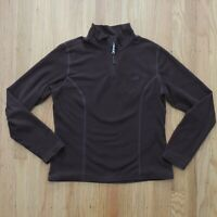 The North Face TKA 100 Fleece Womens Pullover 1/4 Zip Brown Size Medium