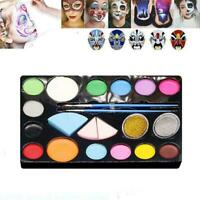 1x12 colors Painting Cream Face Body Paint Palette Fancy Halloween Cosmetic M5K1