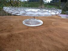 "Vintage Retro - Glass Cake Stand on Pedestal - Diameter 8 1/2 "" - 21 cm"