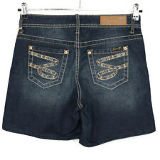 Seven7 Womens Jean Shorts Size 4 Distressed Stretch Embroidered