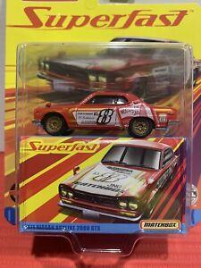 MATCHBOX SUPERFAST 1971 NISSAN SKYLINE 2000 GTX RACING HARNESS VARIATION RED