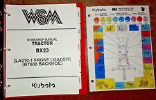 Kubota BX23 Tractor, Loader & Backhoe Service Repair Workshop Shop Manual OEM!