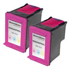 2pk CC644WN COLOR Ink Cartridge for HP 60XL Photosmart C4780 C4680 C4700 d110a