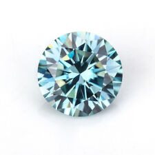 Green Color VVS1 Round Cut Moissanite Stone Loose Gemstone With Certificate