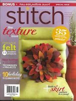Stitch Magazine Texture Issue Modern Felt Projects Faux Leather And Suede 2011