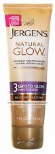 JERGENS 4oz NATURAL GLOW Moisturizer 3 DAYS COLOR Natural Looking FAIR TO MEDIUM