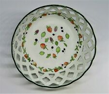 Staffordshire Enamels Dish - Reticulated Fruit Bowl - Strawberry - Cherry - Mib