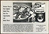 1950 B&M Baked Beans PRINT AD New England Brick Oven Portland Maine