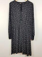 [ CUE ] C/TC Womens Long sleeves Floral Print Dress  | Size AU 12