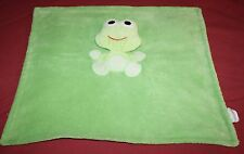 "Baby Gear Security Blanket FROG Green Plush Floppy Head Soft Toy Lovey 17"" x 19"""