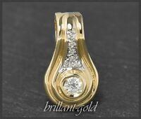 Diamant Anhänger, 0,30ct Brillianten in River E, 585 Gold, Gelbgold & Weißgold