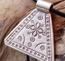 98% Silber Anhänger Verspielt Drei-Eckig 3 x 3 cm Amulett Verspielt Ethno Glanz