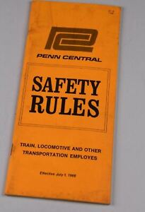 Railroad Rule Book Penn Central Safety Rules July 1 1968